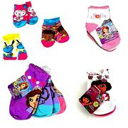 Girl's Toddler Safety Toes Socks 3-pairs Doc Mcstuffins Sofia Dora Nwt