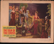The Sign Of The Cross Original 11x14 Lobby Card Movie Poster Claudette Colbert