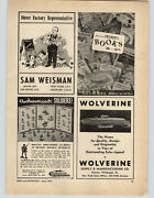 1947 Paper Ad Authenticast Hand Painted Toy Soldiers Wolverine Submarine