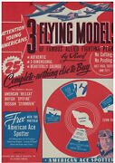 1944 Wwii 3 Flying Airplane Models To Build Booklet Nos New Old Stock Never Used
