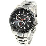 Seiko Astron Sbxb041 Gps Solar Dual Time Menand039s Watch New In Box