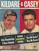 Kildare And Casey 1962-photo Play-1st Issue-richard Chamberlain-vince Edwards-fn-
