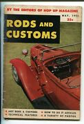 Rods And Customs-05/1953-quinn Pub-1st Issue-hot Rods-dragsters-pin Ups-g/vg