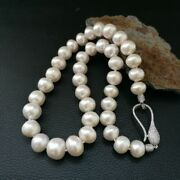 19 White Keshi Pearl Necklace