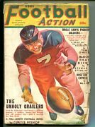 Football Action-3-fall 1941-pulp-george Gross Cover-good