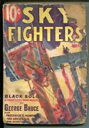 Sky Fighters 01/1933-air War Pulps-wwi-3rd Issue-black Solo-george Bruce-good