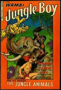 Wambi Jungle Boy 18 1952- Fiction House- Elephant Cover- Final Issue Vf