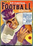 All-american Football Pulp Fall 1949- George Gross- Bart Cassidy- Oliver Shank