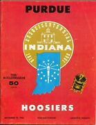 Purdue Vs Indiana Ncaa Football Game Program 11/19/1966-rosters-pix-vg