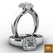 1.1ctw Cathedral Style Filigree Cushion Diamond Engagement Ring Gia I-vs2 W Gold