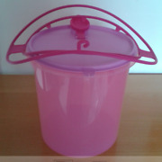 Tupperware 5l Giant Pitcher / Canister Bucket Liquid Tight Pour Seal Pink New