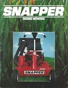 Lawn Equipment Brochure - Snapper - Riding Mowers Product Line Overview Lg117