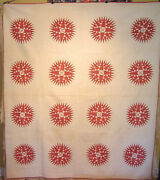 Museum Quality Antique Mariners Compass Quilt Mid 19th Century