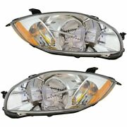 Halogen Headlight Lamp Assembly Pair Lh And Rh Sides For Mitsubishi Eclipse