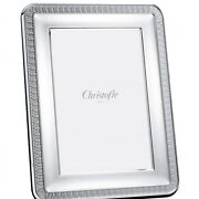 Christofle Perles Silver Plated 8 X10 Picture Frame 4256004 Brand Nib F/sh