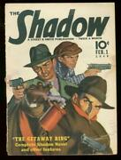 The Shadow Feb 1 1940- Getaway Ring Street And Smith Pulp Vg/fn