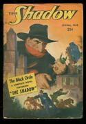 The Shadow- Spring 1949- The Black Circle-rare Late Pulp Vg