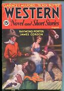 Western Novels And Short Stories 08/1934-black Buttes-bound Babe- Mulford-vf
