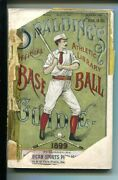 Spalding's Official Baseball Guide-1899-historical-stats-4 1/4 X 6 3/8- Fr/good