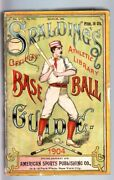 Spalding's Official Baseball Guide-1904-historical-stats-4 1/4 X 6 3/8- Vg+