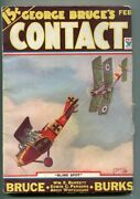 George Bruceand039s Contact 02/1934-wwi Aviation-bi-plane-frank Tinsley Cover-vf