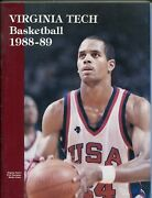 Virginia Tech Ncaa Basketball Yearbook Media Guide-1985-info-photos-rosters-vf