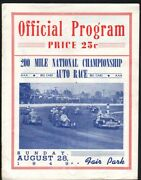 Wisconsin State Fair Park Speedway Program 1949-indy Cars-aaa-dirt Track Vg