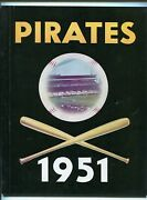 Pittsburgh Pirates Baseball Yearbook-1951-stats-info-photos-1st Edition-fn/vf