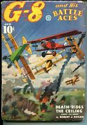 G-8 And His Battle Aces 11/1936-blakeslee Cover-air Battle-gould-hero Pulp-vg