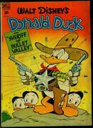 Donald Duck In Sheriff Of Bullet Valley- Four Color Comics 199 1948 Vg