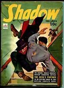 The Shadow 10/1/1942-gunfight Cover-top Pulp Action-deviland039s Partner-vg/fn