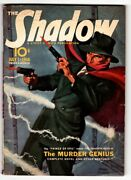 The Shadow Pulp July 1 1940- The Murder Genius- Great Cover Fn+