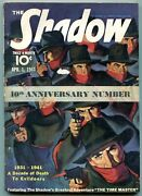 The Shadow Pulp April 1 1939- Time Master- 10th Anniversary Issue Vg/f