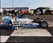Jeremy Unruh 10 Winner Supermodified Car Racing Photo Fn