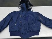 Usaf 1950s N-2a Heavy Attached Hooded Flight Jacket Size L Mfg C.h. Masland Sons