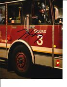 Chicago Fire Taylor Kinney Signed In Fire Truck 8x10