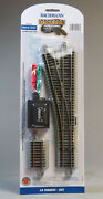 Bachmann E-z Track Ho Scale 4 Turnout Left Hand Switch Roadbed Gray 44557 New