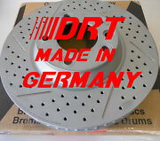07-12 Audi Q7 Made In Germany Cross Drilled Slotted Brake Rotors F+r Set
