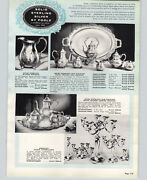 1957 Paper Ad 8 Pg Poole Sterling Silver Hollowware Tea Set Service Pitcher