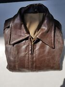 Ww2 Vintage Usaf A-2 Leather Flight Jacket Private Purchase - Size 38