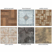 Vinyl Floor Tiles Wood And Marble Look 2mm Thick Highly Durable Sticky Floor Tiles