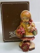 Anri Yule Tide 6 Hand Carved Wood Figurine By Sarah Kay - Mint In Box