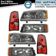 Headlight Parking Light Tail Lamp Kit Set Of 6 For 03 Chevy Silverado Truck New