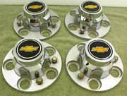 Chevrolet Truck Center Caps 5 Lug Hubcaps 1970`s 1980`s With Bolts Rally Wheels