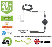 Quansheng Two Way Radio Dmr And Analogue Heavy Duty Throat Mic And Covert Earpiece