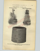 1905 Paper Ad Cypress Pine Wood Wind Mill Water Tank Support Tower