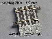 Lionel American Flyer Fastrack 1 3/8 Straight S Gauge 2 Rail Track 6-47988 New