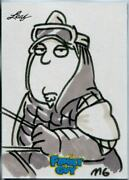 Family Guy Seasons 3, 4 And 5 Sketch Card By Mark Garcia