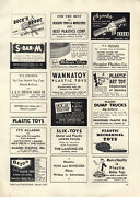 1951 Paper Ad Beton Plastic Toy Soldiers Cowboys Irwin Toys Co S Bar M Pistol