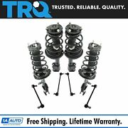 Trq 8 Piece Suspension Kit Complete Strut And Spring Assemblies Sway Bar End Links